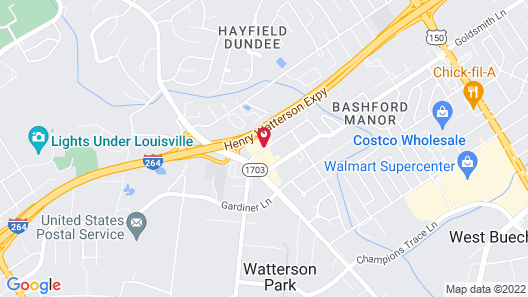 Holiday Inn Express Louisville Airport Expo Center, an IHG Hotel Map