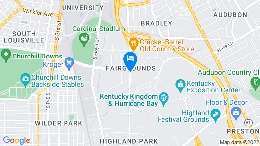 Four Points by Sheraton Louisville Airport Map
