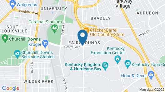 Super 8 by Wyndham Louisville/Expo Center Map