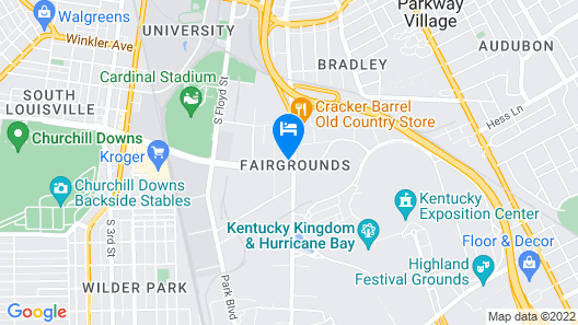 Super 8 by Wyndham Louisville/Expo Center Map