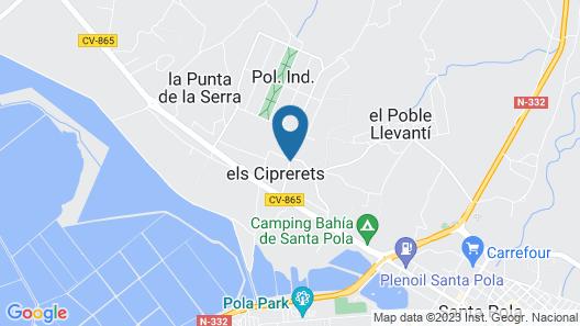 Fidalsa Lujosa Villa Salinas y Mar Map