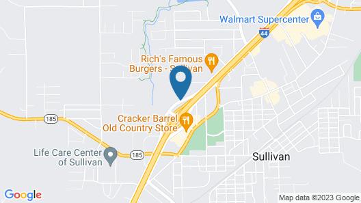 Super 8 by Wyndham Sullivan Map