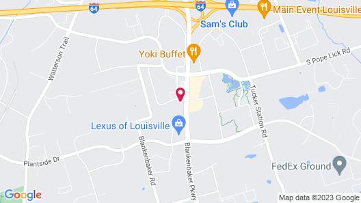 MainStay Suites Louisville Jeffersontown Map