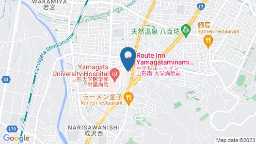 Hotel Route-Inn Yamagata Minami - Daigaku Byouin mae - Map