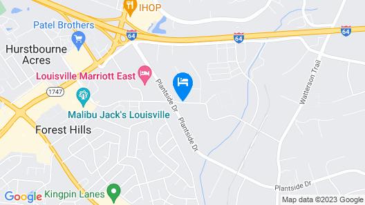 Best Western Louisville East Map