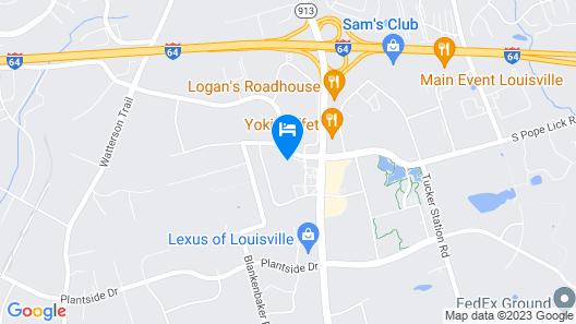 Sleep Inn Louisville Map