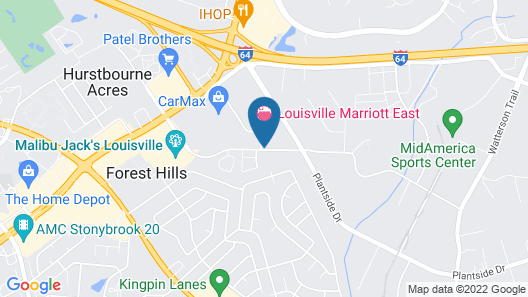 Extended Stay America Suites Louisville Hurstbourne Map