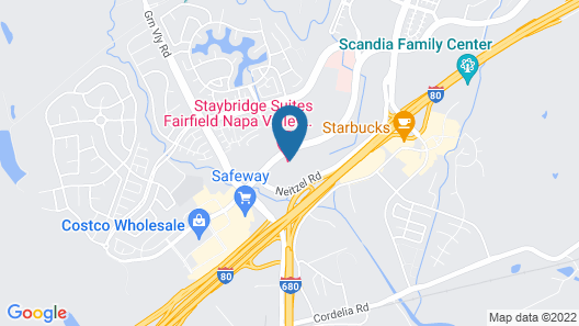 Staybridge Suites Fairfield Napa Valley Area, an IHG Hotel Map