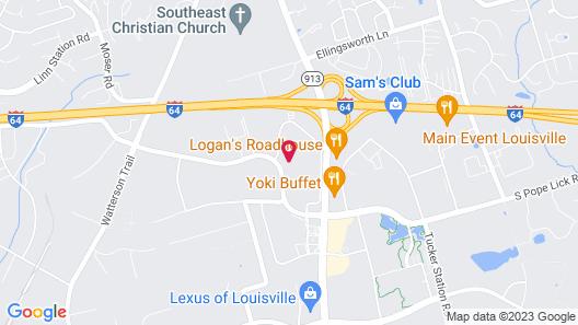 Tru by Hilton Louisville East Map