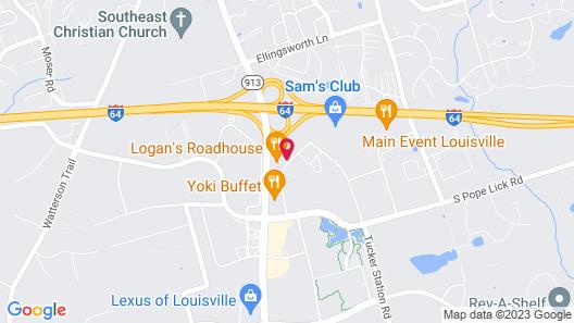 Hilton Garden Inn Louisville East Map