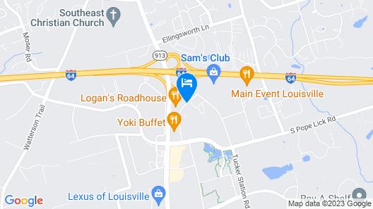 La Quinta Inn & Suites by Wyndham Louisville Map