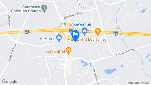 Wingate by Wyndham Louisville East Map
