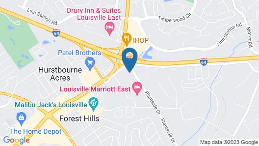 Ramada Plaza & Conf Center by Wyndham Louisville Map