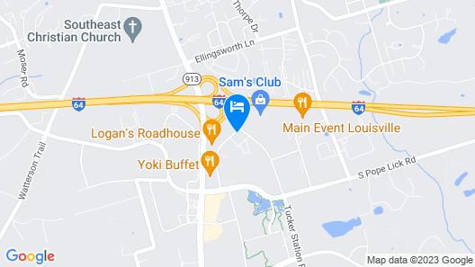 Hampton Inn Suites Louisville East Map