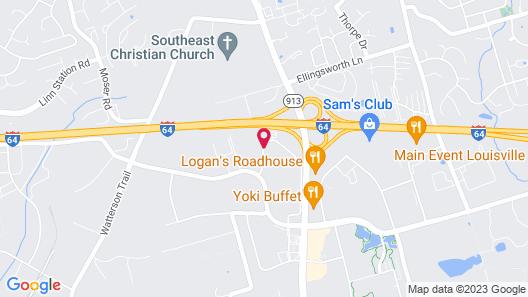 WoodSpring Suites Louisville Jeffersontown Map