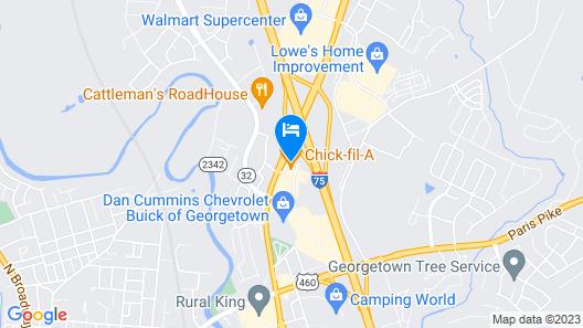 Super 8 by Wyndham Georgetown Map