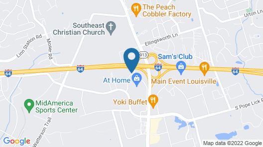 Quality Inn Louisville East Map