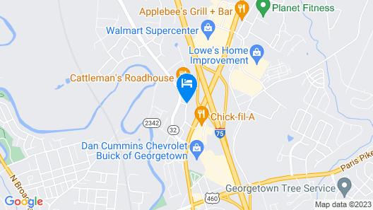 Best Western Plus Georgetown Corporate Center Hotel Map