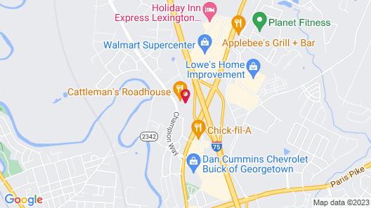Hilton Garden Inn Lexington-Georgetown Map