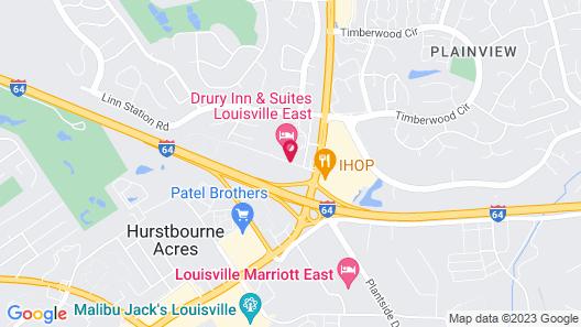 Drury Inn & Suites Louisville East Map