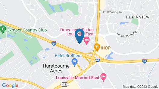 Red Roof Inn Louisville East - Hurstbourne Map