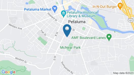 Walking Historic West Petaluma-2bd/2ba Map