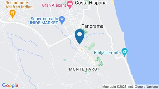 Altomar 1, Gran Alacant, Alicante,Villa,3bed/3bath Sea View, Free WiFi & Phone Map