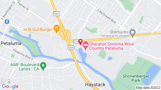 Sheraton Sonoma Wine Country Petaluma Map