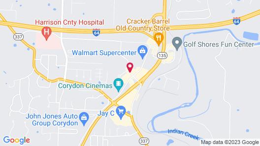 Holiday Inn Express Corydon Map
