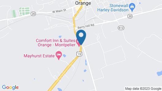 Comfort Inn & Suites Orange - Montpelier Map