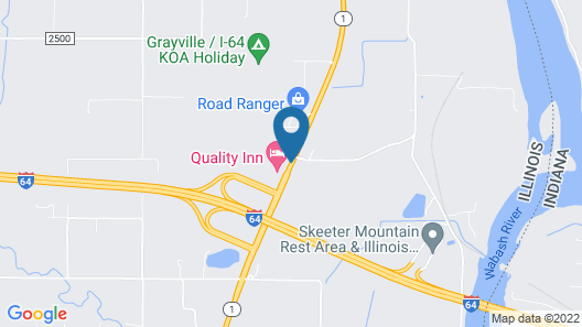 Quality Inn Grayville Map