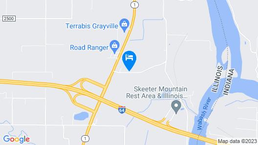 Super 8 by Wyndham Grayville Map
