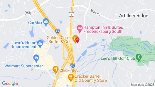 Fairfield Inn By Marriott Fredericksburg Map