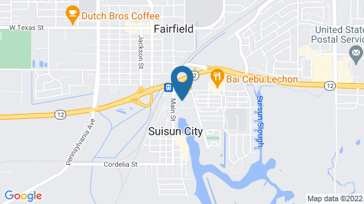 Hampton Inn and Suites Suisun City Waterfront Map