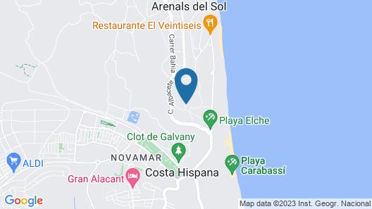 Bungalow de Arenales Map