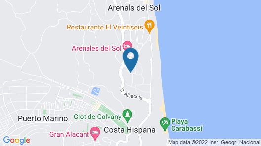 Infinity View Apartments - Marholidays Map