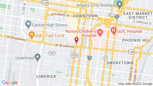Kasa Louisville Downtown Apartments Map