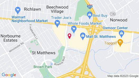 Hilton Garden Inn Louisville Mall of St. Matthews Map