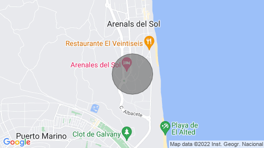 Arenales del Sol viewpoint Map