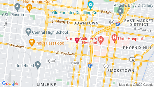 Mint House Louisville Map