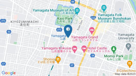 OYO Hotel New Mogamiya Yamagata Station Map
