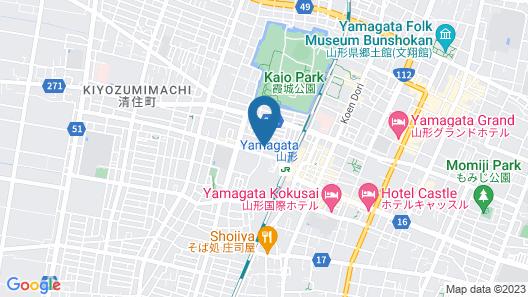 Yamagata Eki Nishiguchi Washington Hotel Map