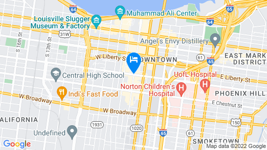 Embassy Suites Louisville Downtown Map