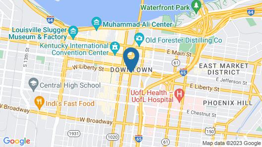 Econo Lodge Downtown Louisville Map