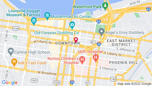 SpringHill Suites by Marriott Louisville Downtown Map