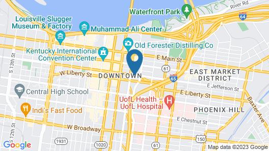 Fairfield Inn & Suites by Marriott Louisville Downtown Map