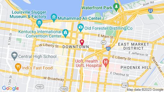 Hampton Inn Louisville Downtown Map
