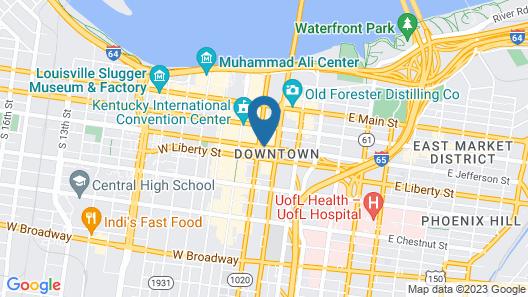Louisville Marriott Downtown Map