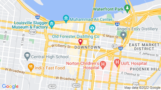 Hyatt Regency Louisville Map