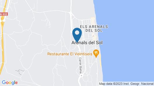 Arenales Playa Apartments - Marholidays Map